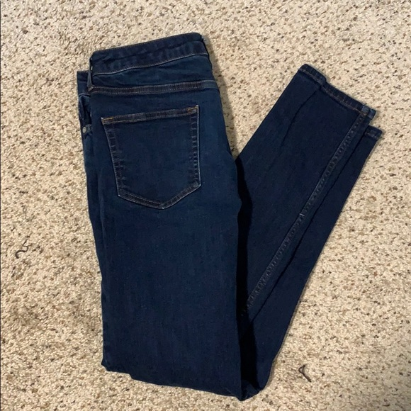 TOPSHOP topman denim skinny jeans button fly 34x34